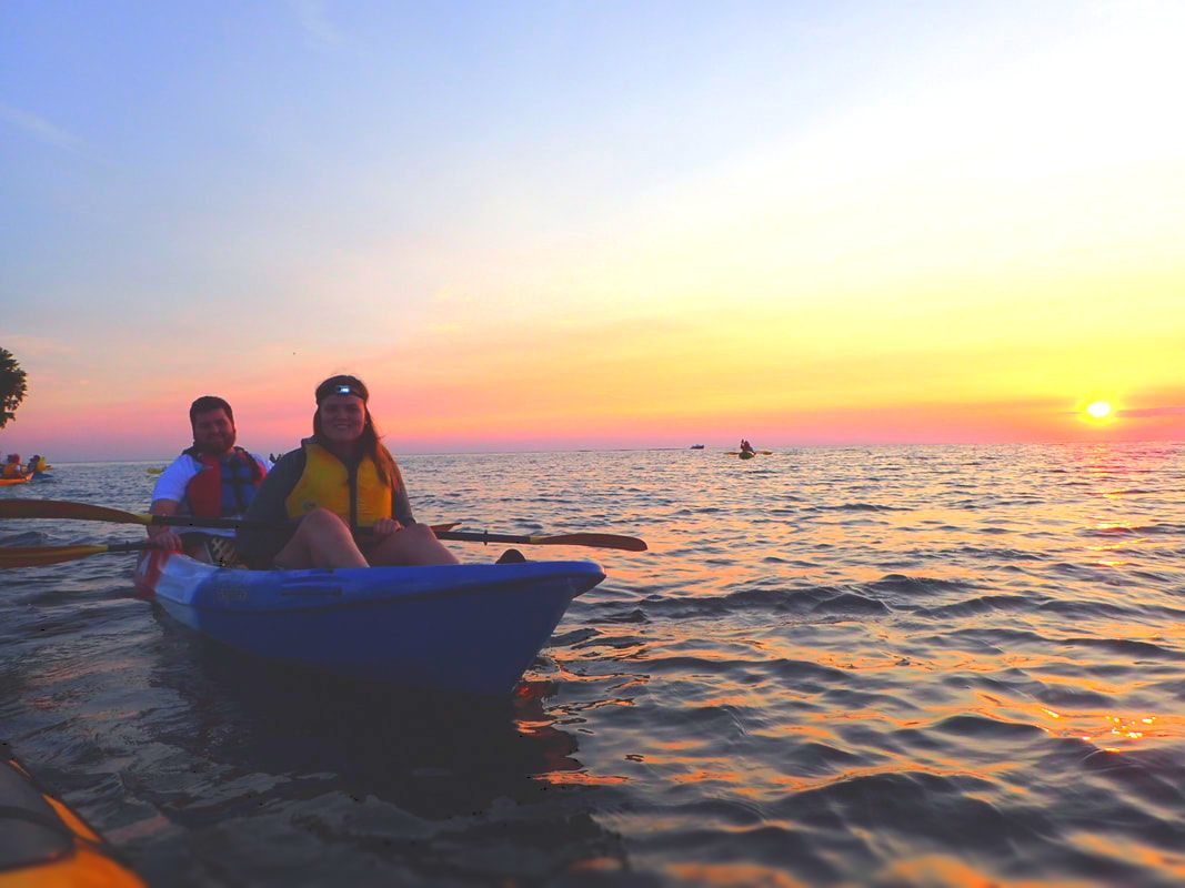 Smiles and a Sunset Kayak Tour