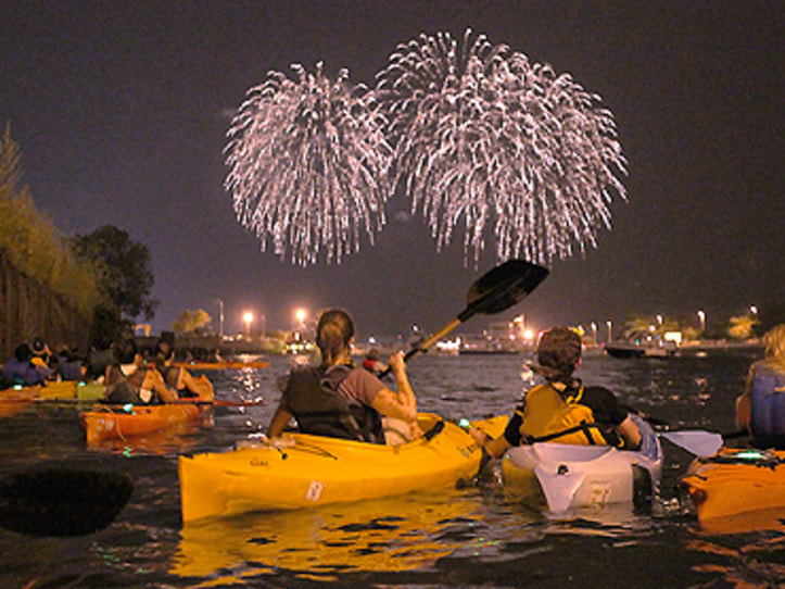 Fireworks and Kayaking